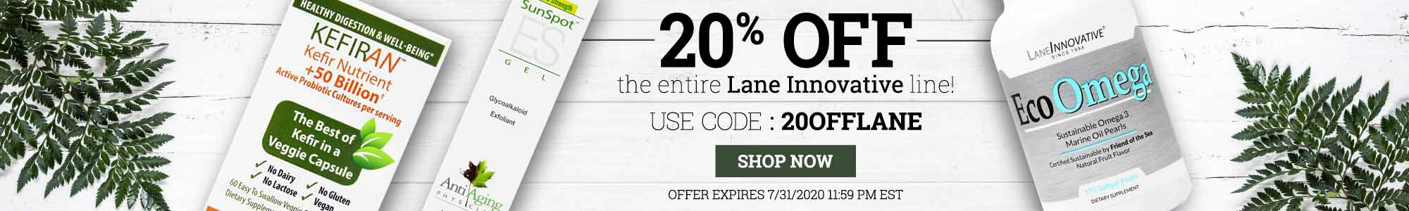 20% Off the entire Lane Innovative line! Use code: 20offlane. Shop now. Offer expires July 31 2020, 11:59 pm EST.