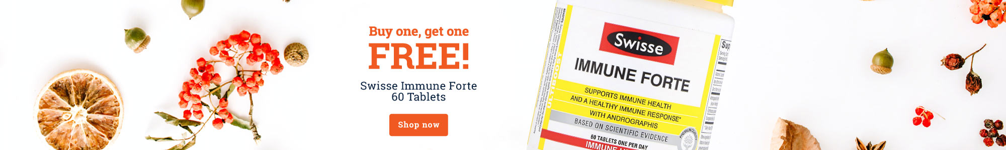Buy one, get one FREE! Swisse Immune Forte 60 Tablets Shop now