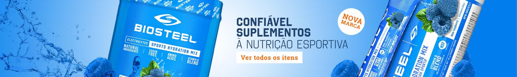 BIOSTEEL - NOVA MARCA Confiável Suplementos à nutrição esportiva - Ver todos os itens