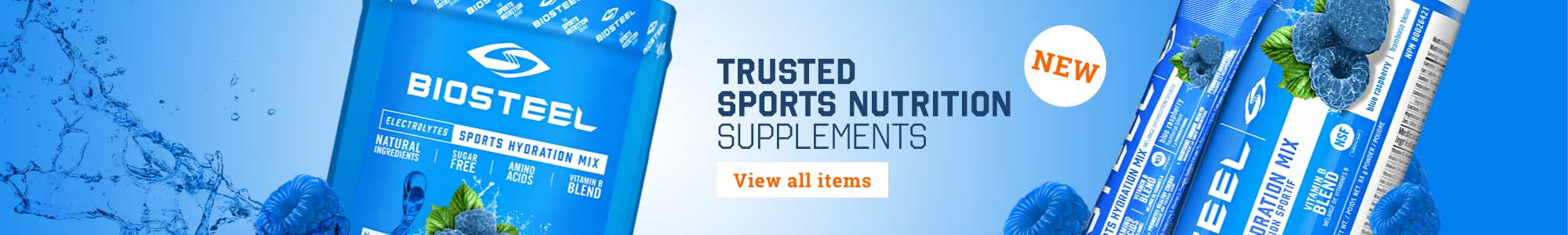 BioSteel - NEW - Trusted Sports Nutrition Supplements - VIEW ALL ITEMS