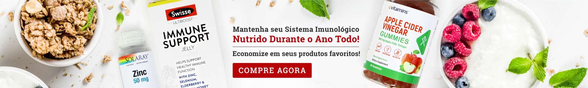 Mantenha seu Sistema Imunológico Nutrido Durante o Ano Todo! Economize em seus produtos favoritos! COMPRE AGORA