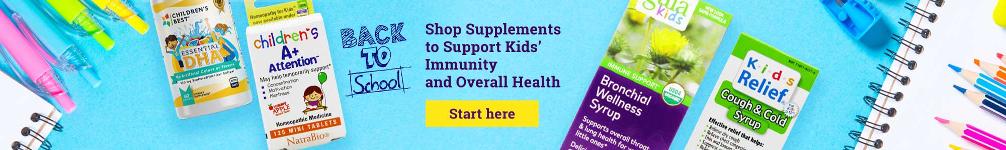 Back to School - SShop Supplements to Support Kids' Immunity and Overall Health - Start here