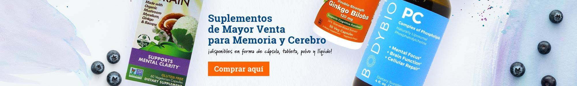 Suplementos de Mayor Venta para Memoria y Cerebro ¡disponibles en forma de cápsula, tableta, polvo y líquido! Comprar aquí
